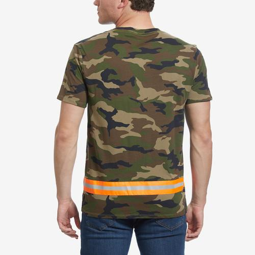 Guess Men's Camo Reflective-Tape Tee