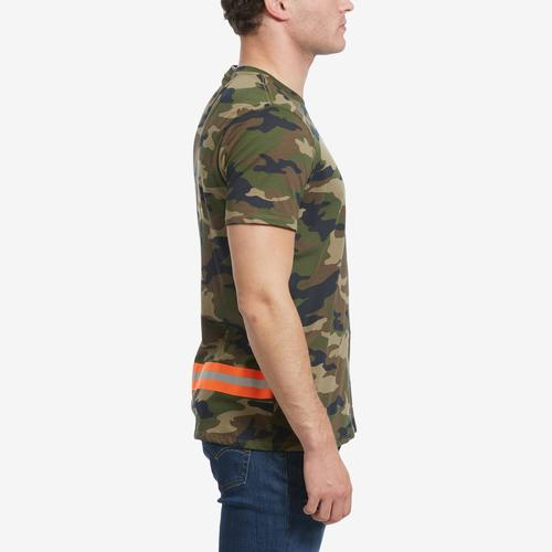 Right Side View of Guess Men's Camo Reflective-Tape Tee