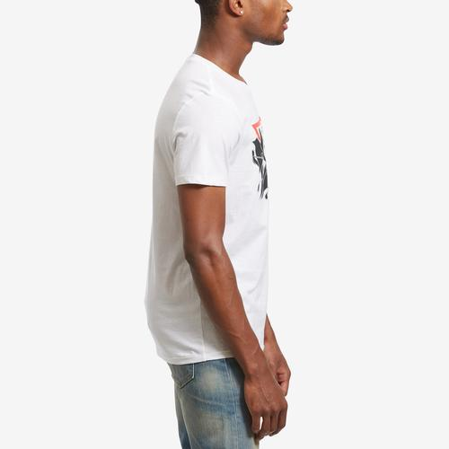 Right Side View of Guess Men's Exploding Logo T-Shirt