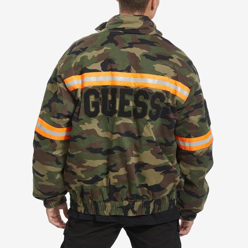 Guess Carter Reflective Camo Bomber Jacket