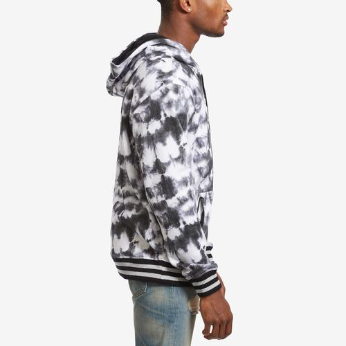 Right Side View of Guess Men's Roy Tie-Dye Logo Hoodie