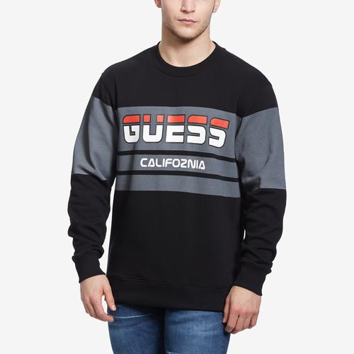 Front View of Guess Men's Roy Guess Sport Sweatshirt