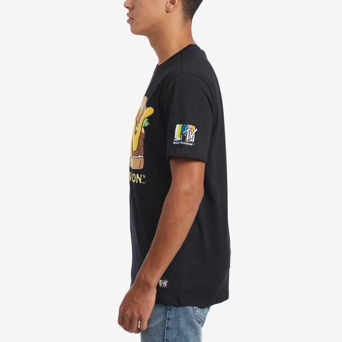 Left Side View of Freeze Men's MTV Burger T-Shirt