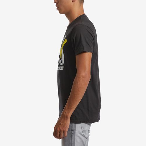 Left Side View of Freeze Men's MTV Check T-Shirt