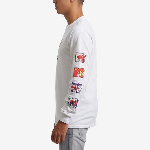 Left Side View of Freeze Men's Long Sleeve MTV T-Shirt