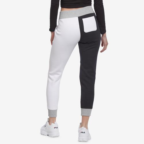 Back View of Champion Women's Reverse Weave Colorblock Joggers