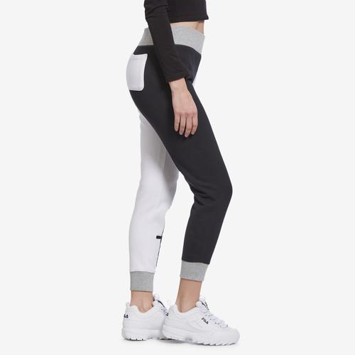 Left Side View of Champion Women's Reverse Weave Colorblock Joggers
