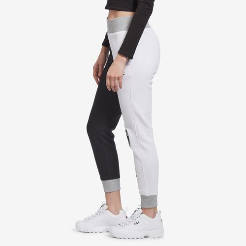 Right Side View of Champion Women's Reverse Weave Colorblock Joggers