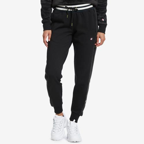 Front View of Champion Women's Faux Fur Joggers