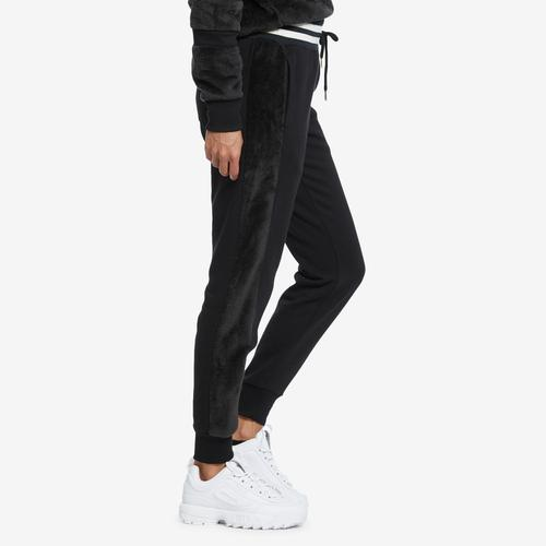 Right Side View of Champion Women's Faux Fur Joggers