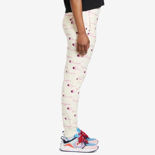 Right Side View of Champion Women's Life Reverse Weave Joggers, Allover Print