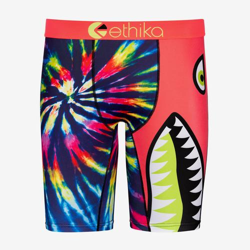 Front View of ETHIKA Men's Bomber Trip Boxer Brief