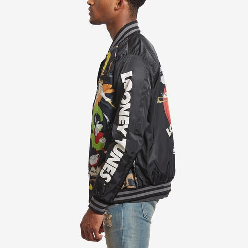 Left Side View of Members Only Men's All Over Mash Print Bomber Jacket