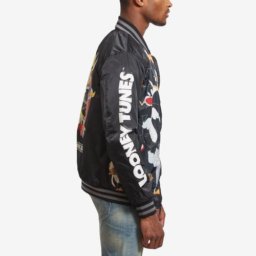 Right Side View of Members Only Men's All Over Mash Print Bomber Jacket