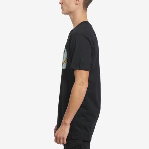 Left Side View of Hasta Muerte Men's Money On Lock T-Shirt