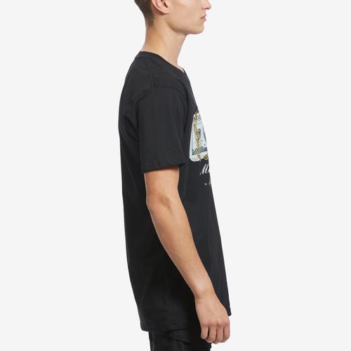 Right Side View of Hasta Muerte Men's Money On Lock T-Shirt