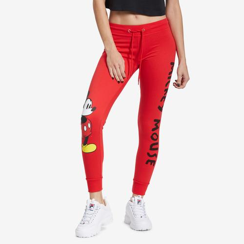 Front View of Freeze Women's Mickey Mouse Joggers