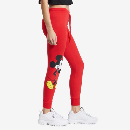 Left Side View of Freeze Women's Mickey Mouse Joggers
