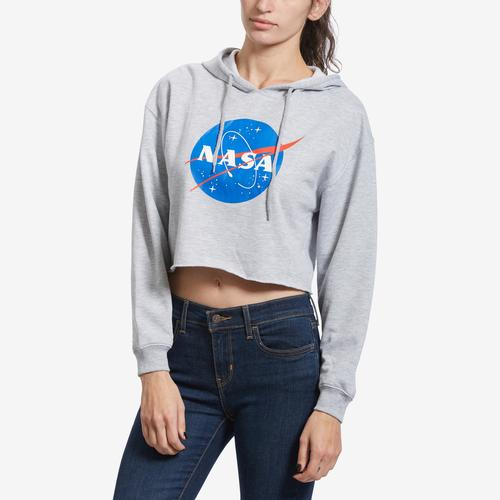 Front View of Freeze Women's NASA Cropped Hoodie