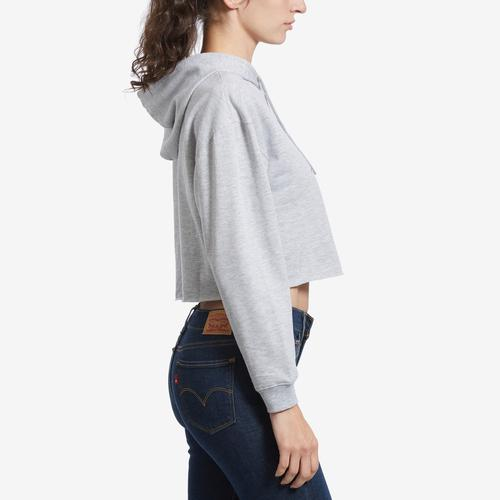 Left Side View of Freeze Women's NASA Cropped Hoodie