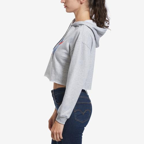 Right Side View of Freeze Women's NASA Cropped Hoodie