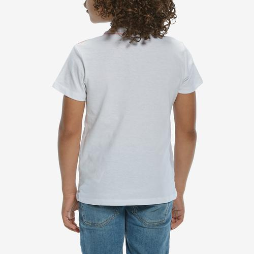Back View of Guess Boy's Short Sleeve Triangle Logo Tee