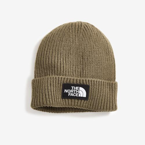 Front Right View of The North Face Logo Box Cuffed Beanie
