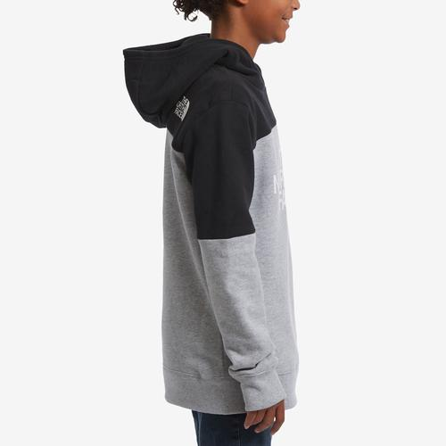 Right Side View of The North Face Boy's Toddler Metro Logo Pullover Hoodie