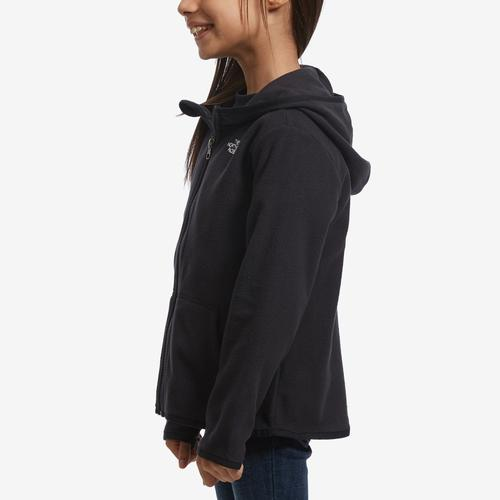 Left Side View of The North Face Boy's Toddler Glacier Full Zip Hoodie