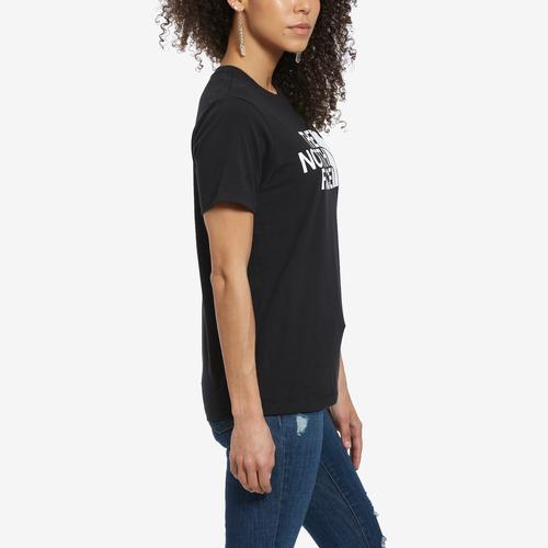 Left Side View of The North Face Women's Short-Sleeve Half Dome Tee