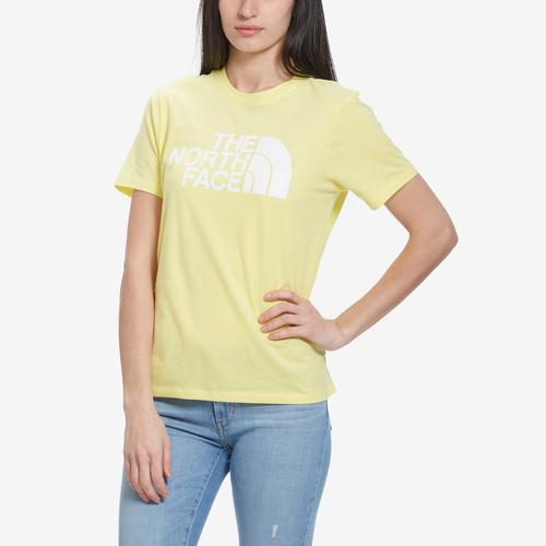 Front View of The North Face Women's Short Sleeve Half Dome Cropped Tee