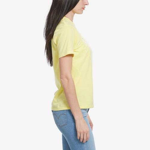 Left Side View of The North Face Women's Short Sleeve Half Dome Cropped Tee