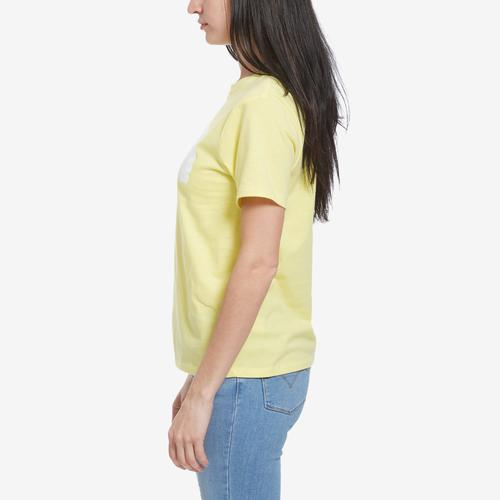 Right Side View of The North Face Women's Short Sleeve Half Dome Cropped Tee