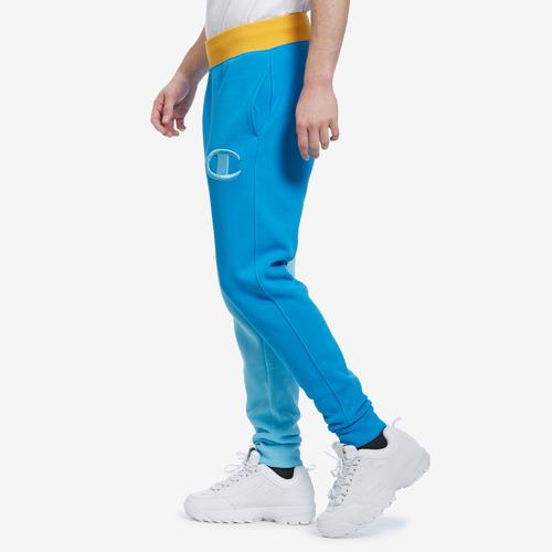 Right Side View of Champion Men's Reverse Weave Colorblock Joggers