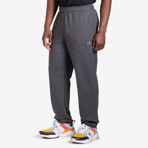 Front View of Champion Men's Powerblend Sweats Relaxed Bottom Pants
