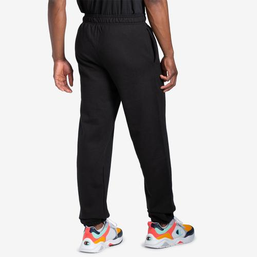 Back View of Champion Men's Powerblend Sweats Relaxed Bottom Pants