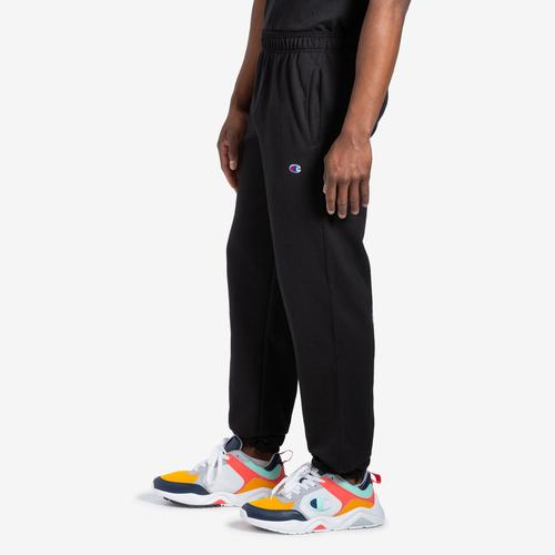 Left Side View of Champion Men's Powerblend Sweats Relaxed Bottom Pants