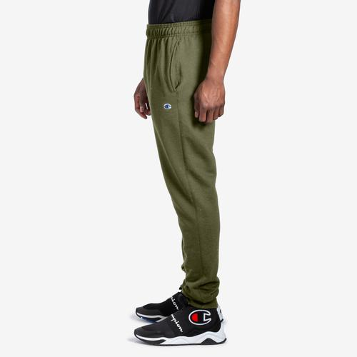 Left Side View of Champion Men's Powerblend Sweats Retro Jogger Pants