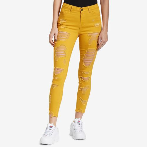 Front View of ELITE JEANS Women's Distressed Jeans