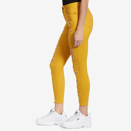 Right Side View of ELITE JEANS Women's Distressed Jeans