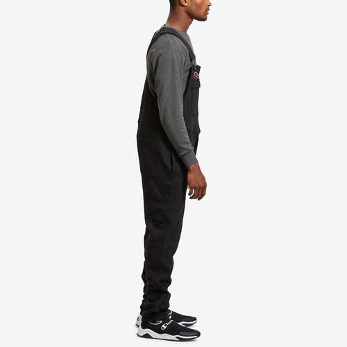 Right Side View of Champion Men's Super Fleece 3.0 Overalls