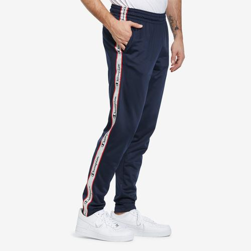 Left Side View of Champion Men's Track Pants, Logo Side Taping