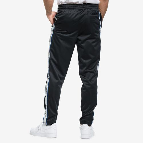Back View of Champion Men's Track Pants, Logo Side Taping