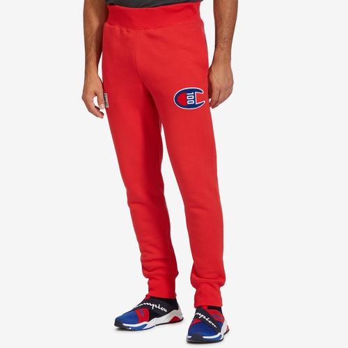 Front View of Champion Men's Century Collection Joggers, C100 Logo