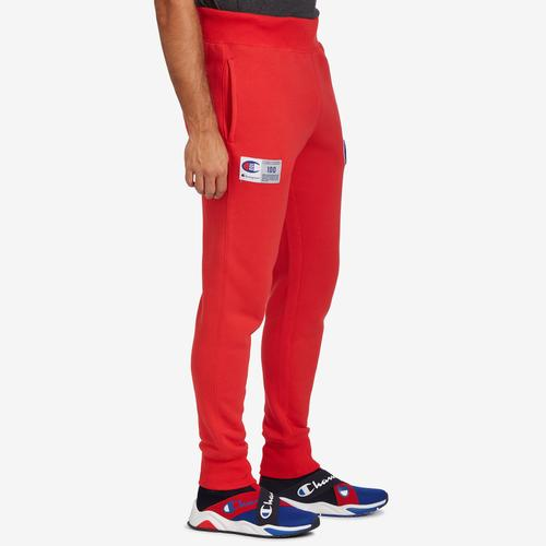 Right Side View of Champion Men's Century Collection Joggers, C100 Logo