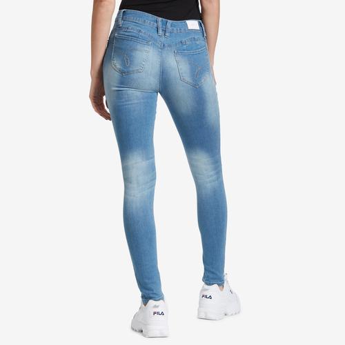 YMI Junior's WannaBetterButt Mid-Rise Super Soft Skinny Jeans