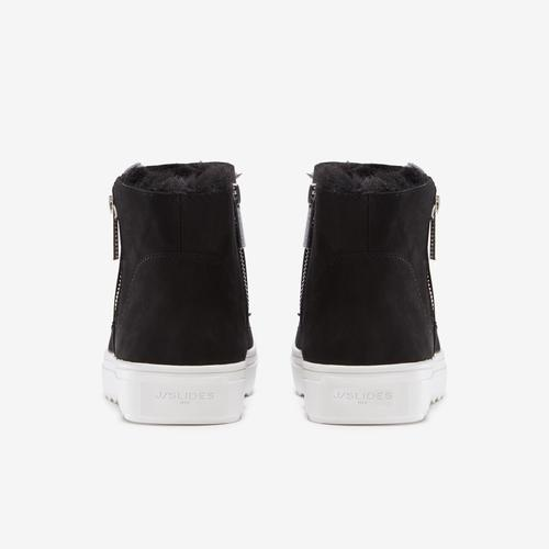 Back View of J/SLIDES Women's Poppy Bootie Sneakers
