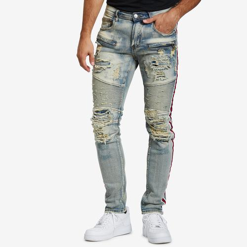 PREME Athletic Stripe Stretch Moto Jean