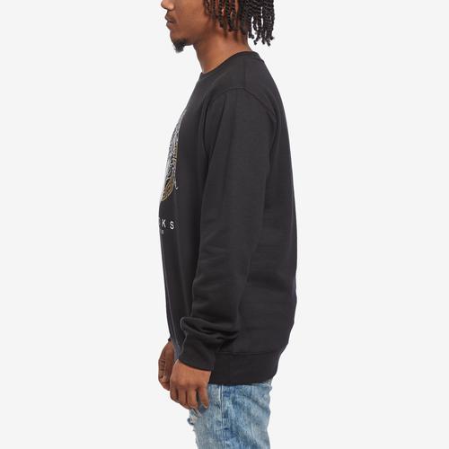 Left Side View of Crooks & Castles Men's Greco Medusa Sweatshirt