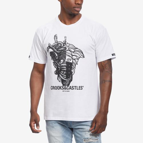 Front View of Crooks & Castles Men's Two Face Tee